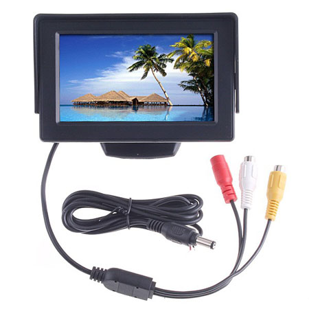 4.3inch TFT LCD 自動車用 バックのカラー?モニターDVD VCR