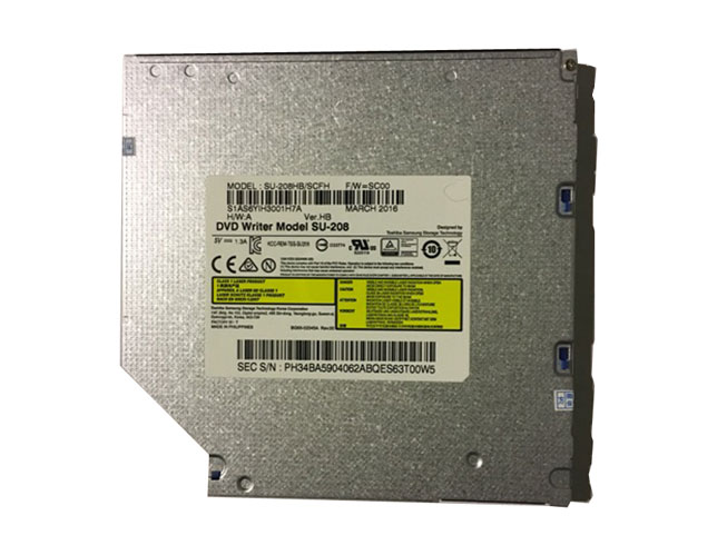 Toshiba Sumsung SU-208 Black NEW 9.5mm 8X DVD Burner SATA Optical Drive